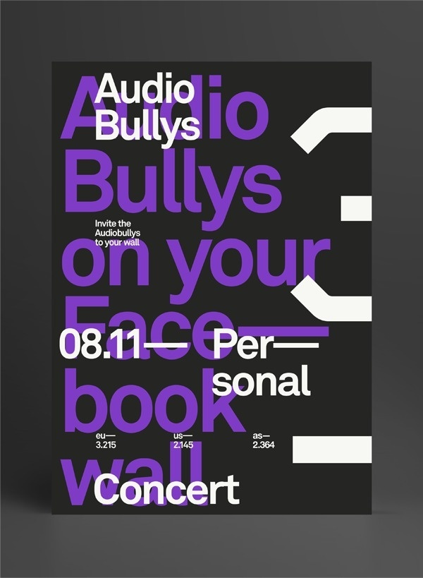 Audio Bullys #layout #poster #typography