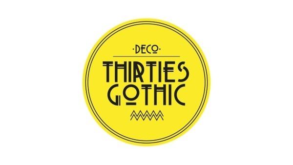 Thirties Gothic Modular Typeface #modular #font #graphicdesign #typeface #typography