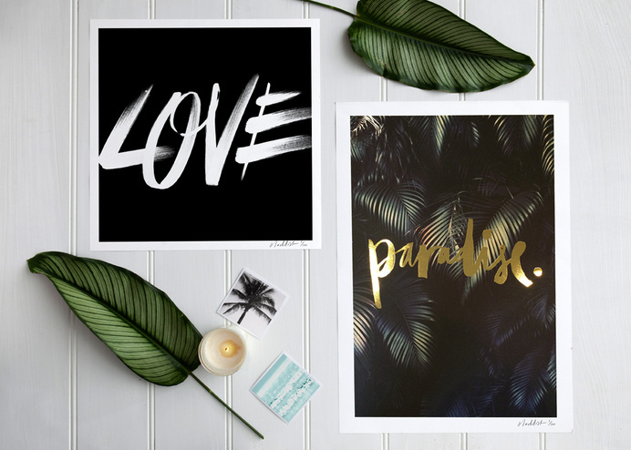 Paradise Gold Foil Print (Large) #minimal #workspace #blacklist #aesthetic