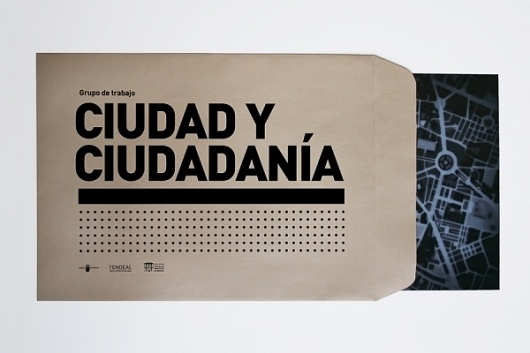 Ciudad y Ciudadanía | Sublima Comunicación #sublima #city #architecture #envelope #kraft #xray #paper #brochure