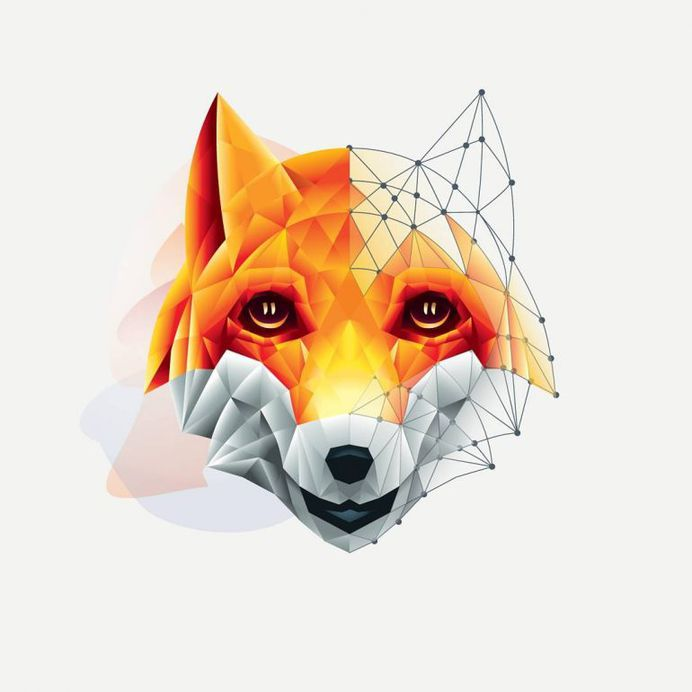 Puppyfox logo. This is a poster version for puppyfox store