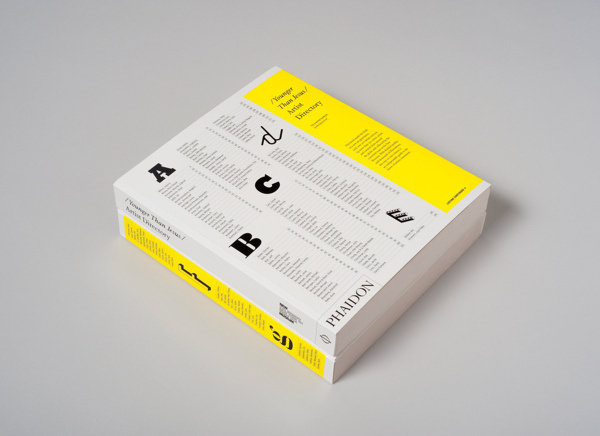 Younger than Jesus Artist Directory #yellow #alphabet #editorial