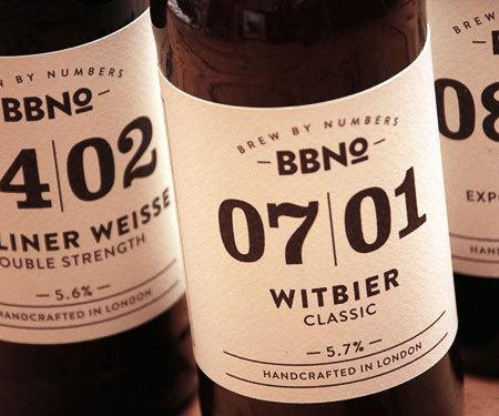 Brewing by Numbers Labels #beer #bottle #packaging #label #package
