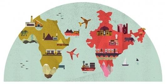 Lotta Nieminen #illustration #globe #map
