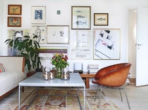 thefullerview: Bolig / Kristian Septimus Krogh / Christina Halskov {eclectic bohemian scandinavian vintage modern living room} (by recent s #home