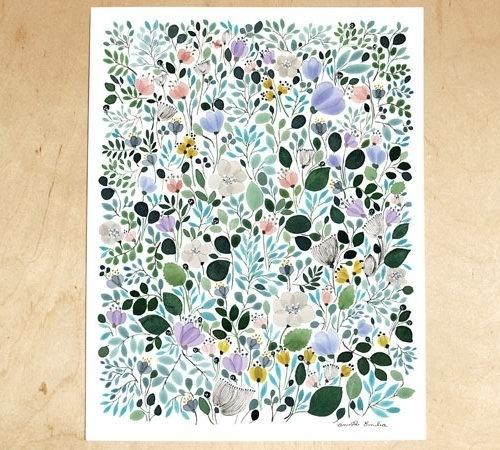 anna emilia   Design*Sponge #floral #poster #flowers