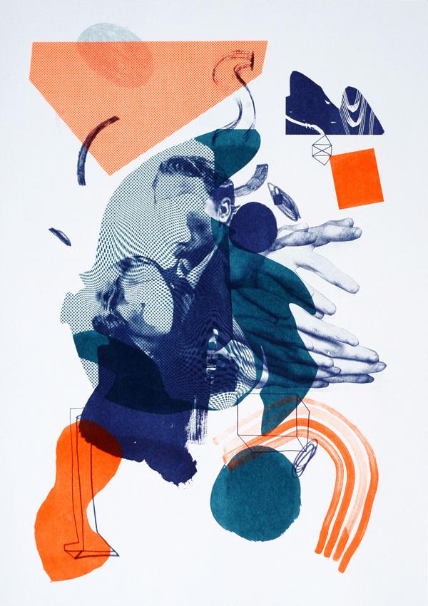 Orange and Blue illustration