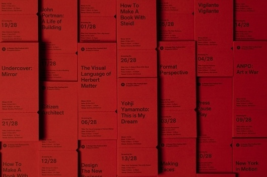 A Design Film Festival 2011 (Tickets) on the Behance Network #tickets #perforated #typography