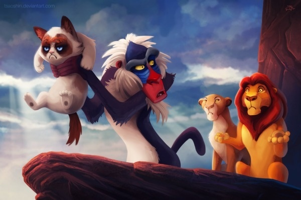 CJWHO ™ (Grumpy Disney by Eric Proctor This series...) #pinocchio #lion #design #arielle #illustration #disney #funny #art #lol #king