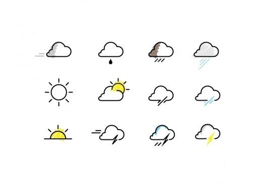 whether weather icon * : welcom to La La Land #icon #vector #weather