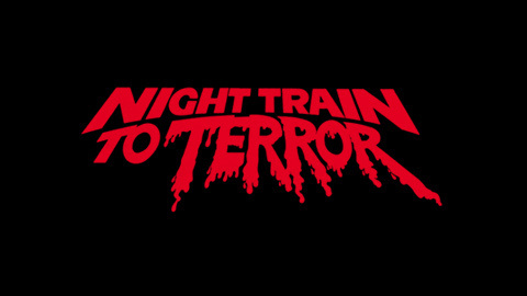 Night train to terror 1985 movie poster typography #movie #lettering #title #kitch #horror #typography