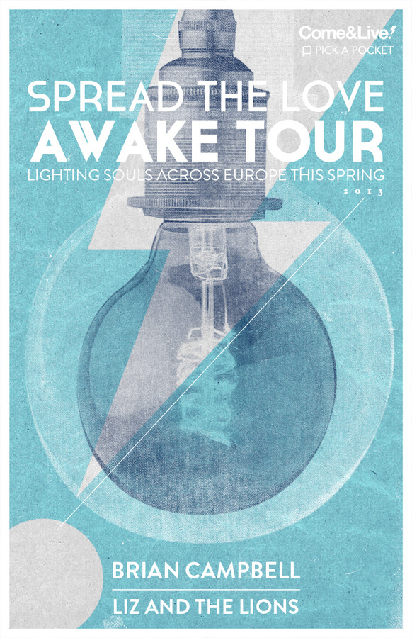 Awake_poster_11x17_detail #bulb #nick #dmico #come&live #poster #light #tour