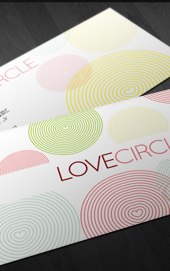 Love Circle Business Card #card #design #circle #business
