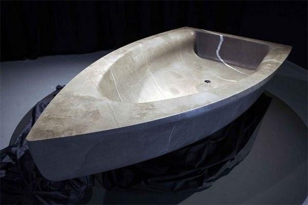 Bboat sculpture bathtub #artistic #bathroom #furniture #art #bathtub
