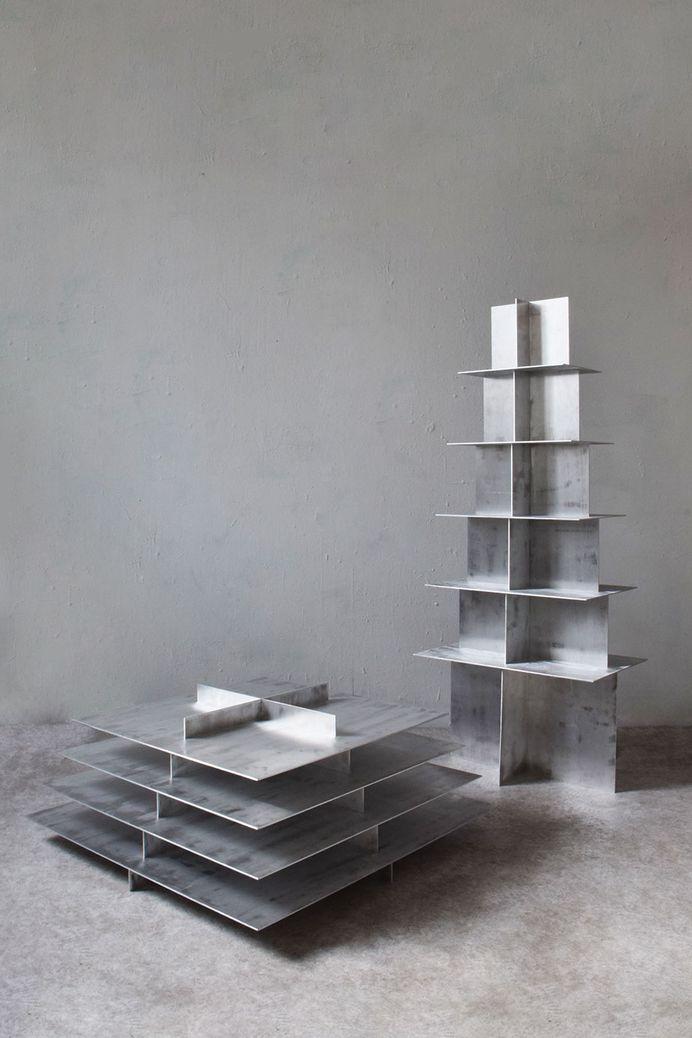 Fat & Regular Pyramid by Bram Vanderbeke & Wendy Andreu