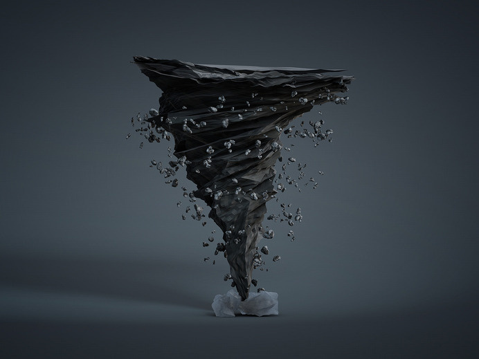 RAWZ :: Tornado by Denis Junemann #computer #tornado #weather #generated #cgi #spiral #design #destruction #debris #pieces #storm #funnel