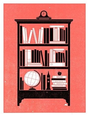 FFFFOUND! #wilco #bookshelf #poster