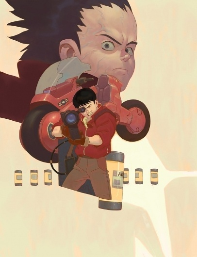 Akira tribute by ~honkfu on deviantART #akira #illustration #anime #poster