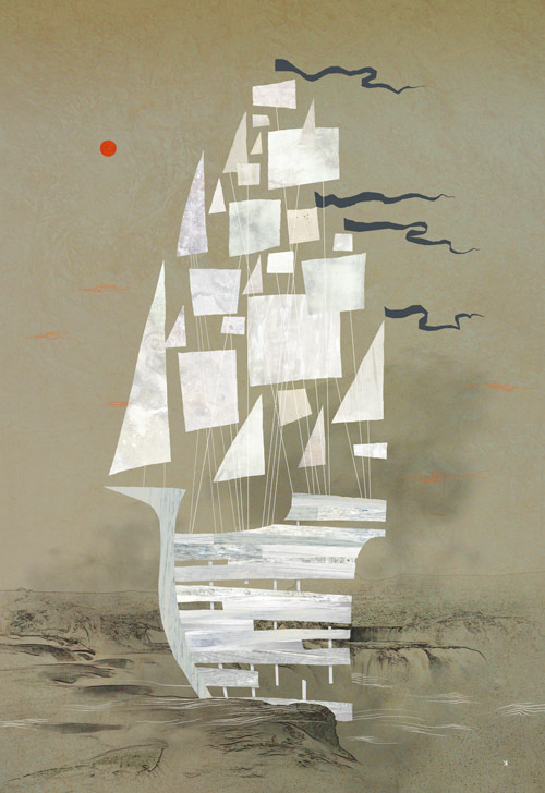 Ken Wong : Illustration #ken #wong #ship #boat #sail