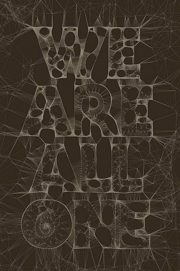 We Are All One | Fonts Inspirations | The Design Inspiration #poster #typography