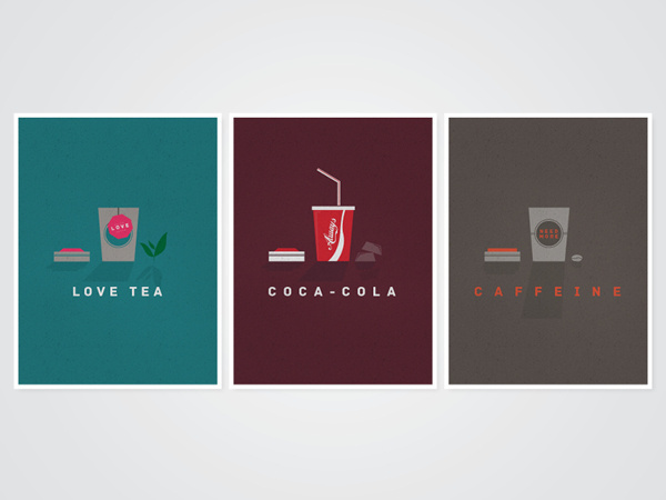 Refreshments Poster Collection (Personal) on Behance #texture #illustration #soft #vintage #poster #drinks