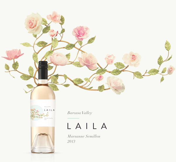 Laila ~ Barossa Valley on Behance by CJ Rhodes #packaging #label #wine #flowers