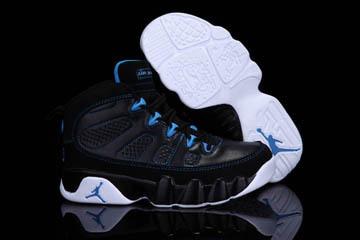 Air Jordan 9 Kid Shoes Photo Blue - Black/White/Photo Blue #shoes