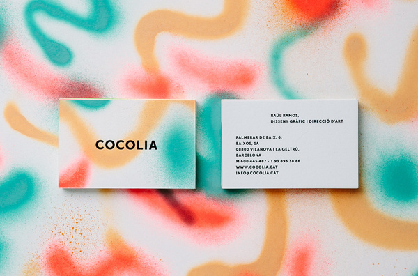 BRAND IDENTITY COCOLIA 2013 #business #card #print #paint #spray