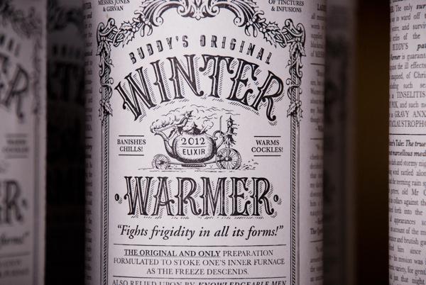 Winter Warmer - wine packaging #packaging #type #wine #typography