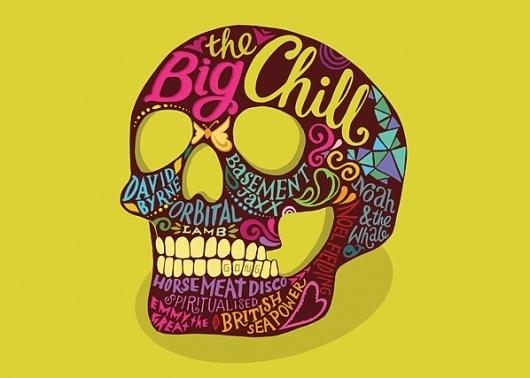 The Big Chill poster | Kate Forrester #illustration #lettering