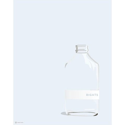 Rights #creative #vector #bottle #design #graphic #rights #glass #cabbage #illustration #blue