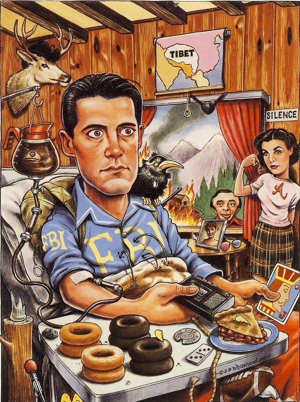 Twin Peaks #twin #illustration #peaks #charicature