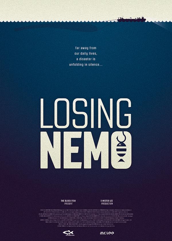 The Black Fish Losing Nemo Kamiel van Kessel #overfishing #animation #movie #van #design #graphic #oceans #kamiel #kessel #environmental #kamielvankesselcom #poster #theblackfishorg