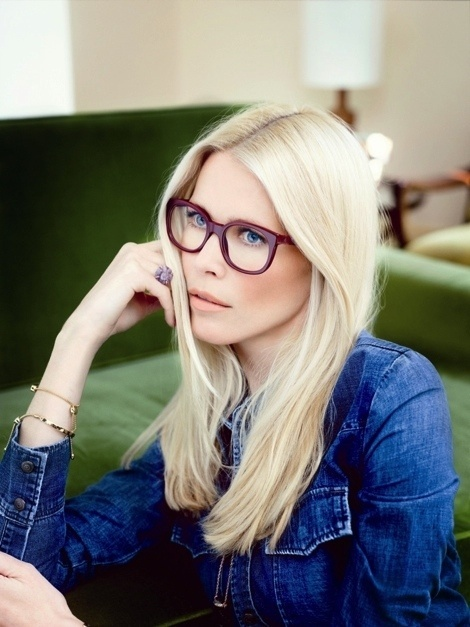 Claudia Schiffer for Rodenstock Eyewear Ads 2014 #glasses #model #girl #photography #eyewear #fashion
