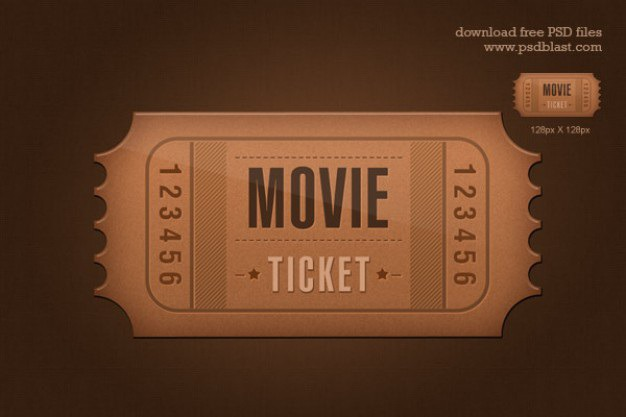 Ticket icon psd Free Psd. See more inspiration related to Icon, Template, Ticket, Event, Movie, Psd, Hollywood, Horizontal, Movie icon and Admit on Freepik.