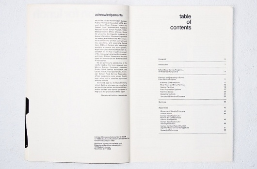 Educational Food Services Report, 1968 | Gridness #layout #design #graphic #typography