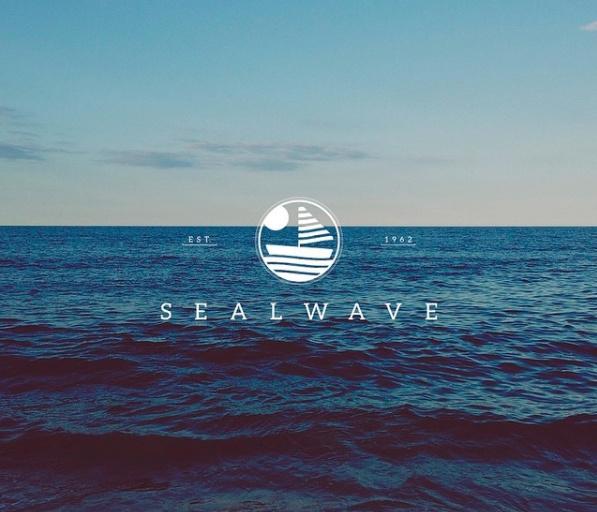Sealwave Identity Design. #logo #mark #symbol #monogram #pictogram #typography #graphic #design #branding #identity