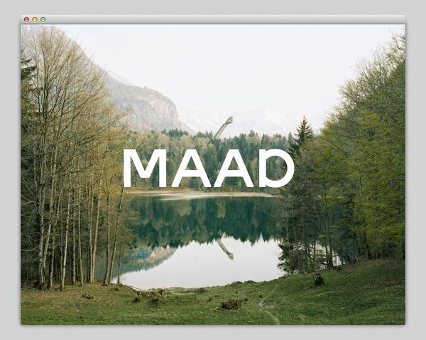 MAAD (amazing typography) #website #layout #design #web