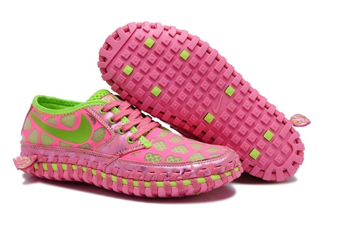 Womens Nike Shoes Casual Pink Green