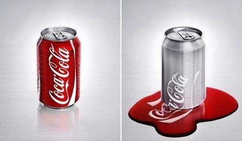 Funny Picture: Melting Coca Cola #conceptual #coca #photohop #melting #cola
