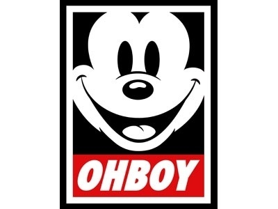 Dribbble - OH BOY by Jerrod Maruyama #cartoon #print #mickey #poster