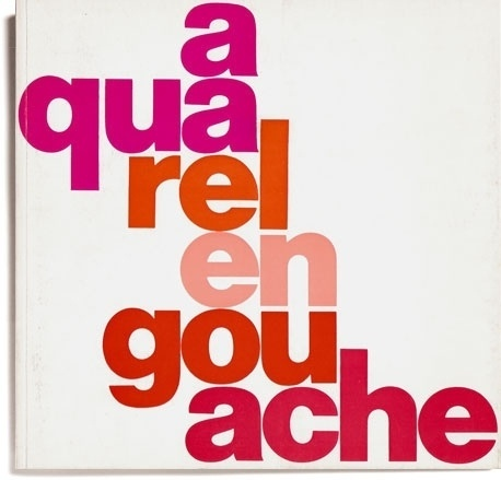 » Aquarel en Gouache Flickrgraphics #design #graphic #book #cover #typography