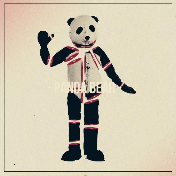 Panda Bear on Behance #panda #print #shapes #poster #bear #collage