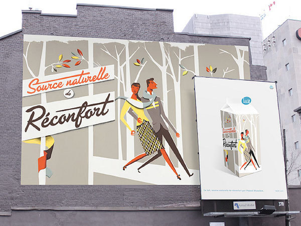 Eight Hour Day » Blog » Feature Friday • Pascal Blanchet #lettering #script #billboard #human #illustration #poster #signage #forest #walking