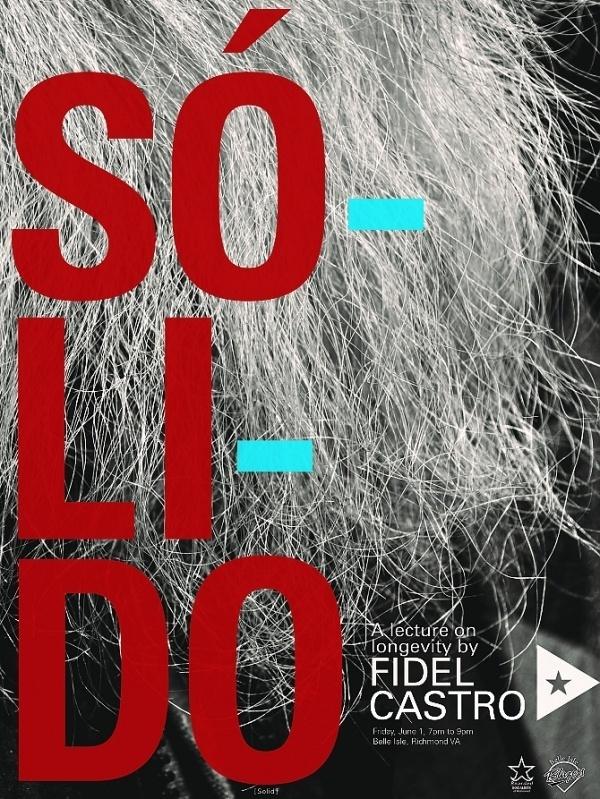 Castro Lecture Poster #richmond #cuba #fidel #communist #castro