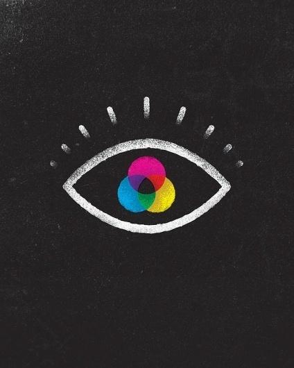 Perception Art Print by Jon Ashcroft | Society6 #ashcroft #jon #texture #eye #illustration #symbol #cmyk