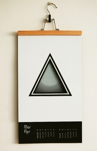 Year of Astronomy on the Behance Network #calendar #design #graphic #triangle