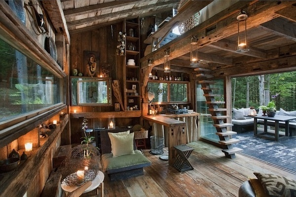 CJWHO ™ (Unplugged by Scott Newkirk A one room cabin in...) #design #architecture #new york #wood #interiors #yulan #scott newkirk