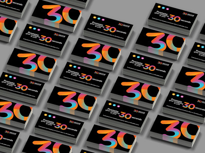 30SP business card (teaser) #colourful #angle #businesscard #iconset #branding #icon #30 #icons #black #set #identity #studio #logo #promotion