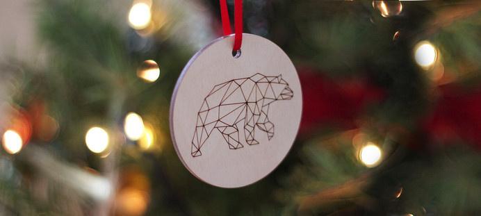 Kaldor | Kaldor Christmas 2014 #cut #laser #ornaments #christmas #illustration #kaldor #decorations #bear #plywood